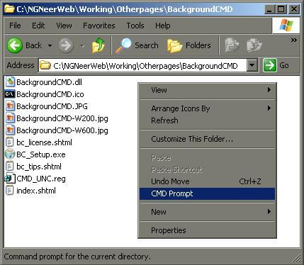 NGNeer  BackgroundCMD (Command Prompt Folder Background